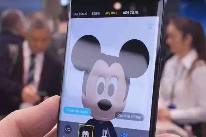 Como funcionam os AR Emojis do Mickey Mouse no Samsung Galaxy S9 e S9+ e como usar 3