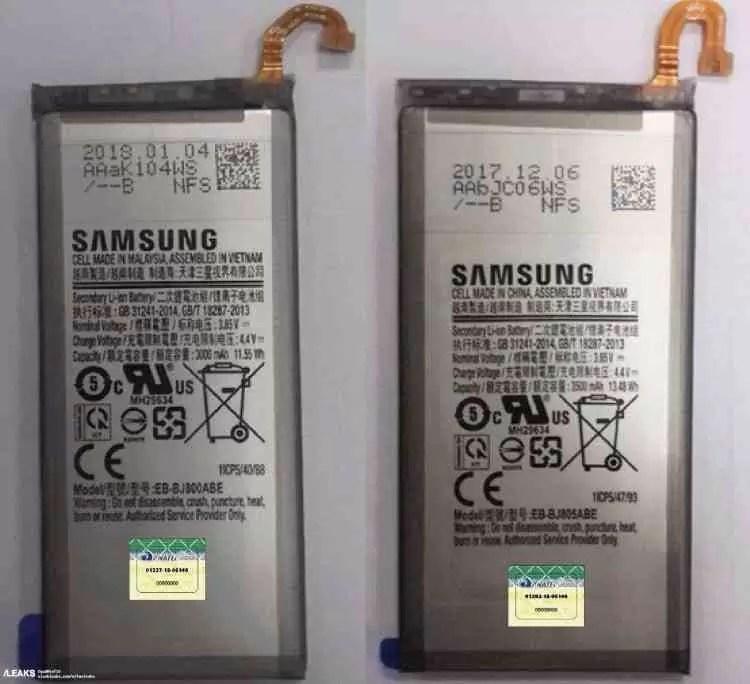 Capacidades das baterias do Samsung Galaxy J8 e J8+ reveladas 1