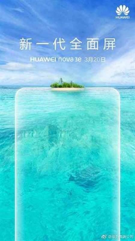 Huawei lança Nova 3e dia 20 de Março com Notch e dupla câmara 1