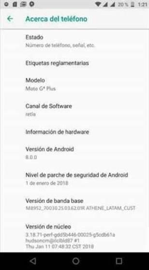 Moto G4 Plus avistado com o Android Oreo 1
