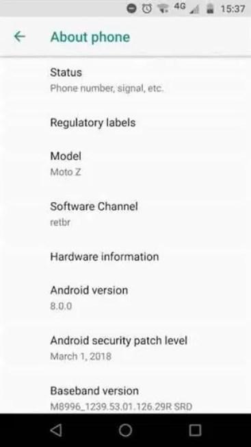 Motorola disponibiliza a atualização do Android 8.0 Oreo para o Moto Z 1