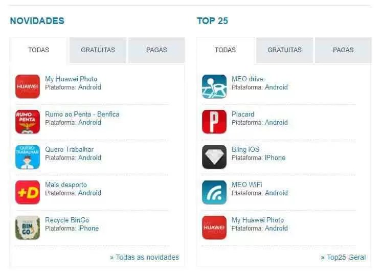 My Huawei Photo no TOP 5 de apps em Portugal 2