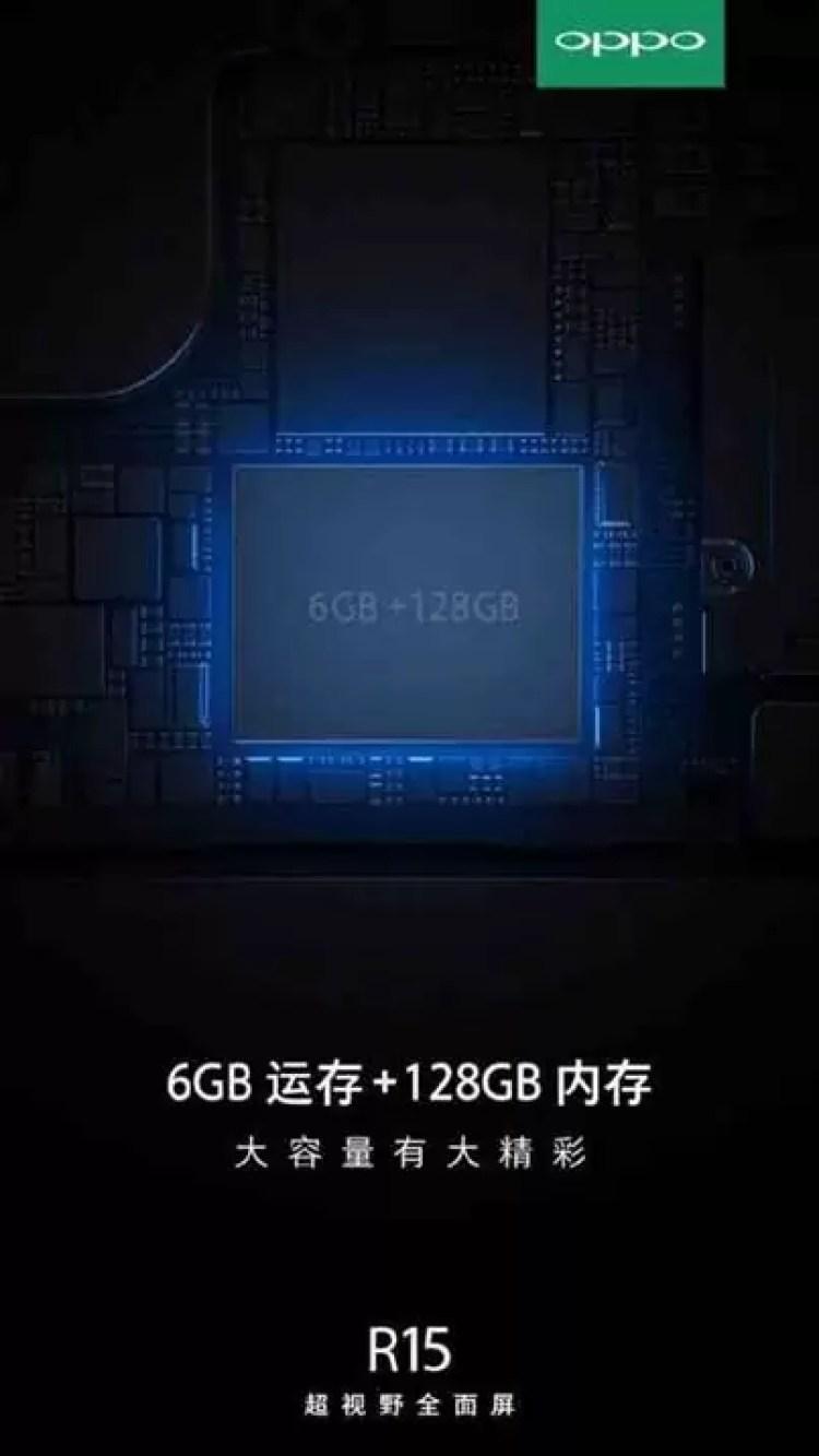 Oppo R15 e R15 Plus têm especificações reveladas no Weibo 1