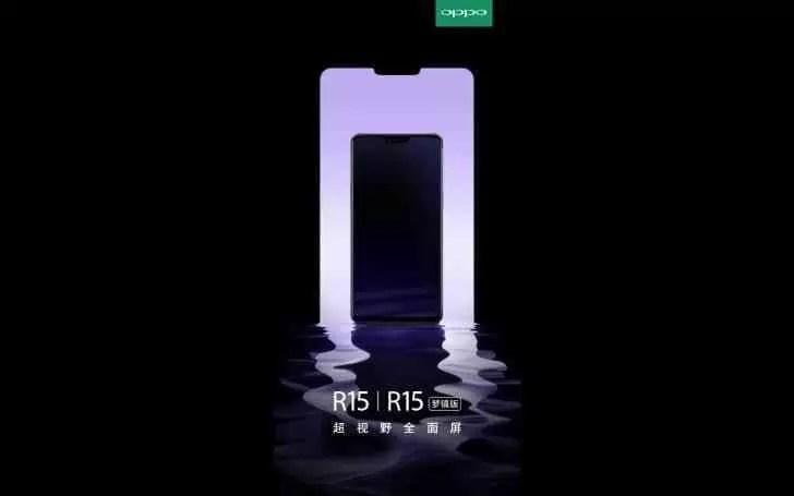 OPPO mostra novo Teaser do R15 revelando 2 especificações image