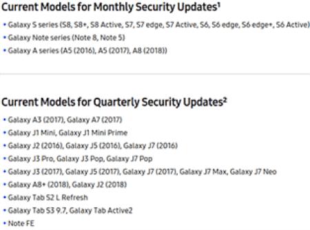 Samsung Galaxy A8 + (2018) vai receber apenas atualizações trimestrais de segurança 1