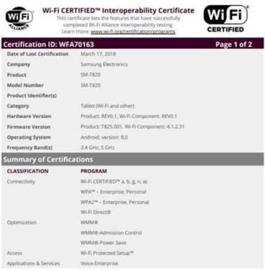 Samsung Galaxy Tab S3 em vias de receber o Android 8.0 Oreo 1