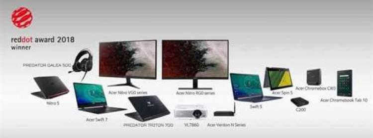 Acer Ganha 13 Prémios Red Dot Design 2018 1