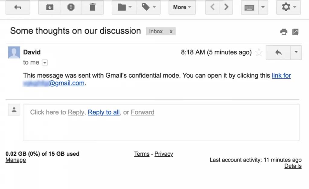 Gmail está a testar o envio de e-mails confidenciais com data de validade 3
