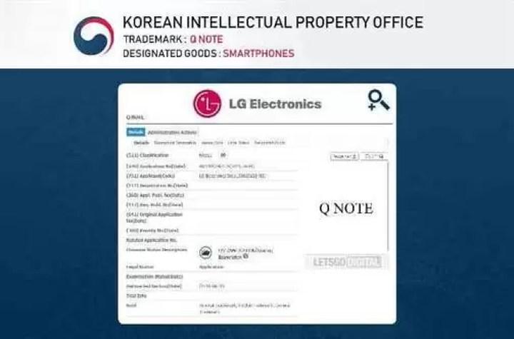 LG Q Note poderá ser a nova linha de equipamentos para competir com a Galaxy Note 1