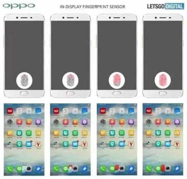OPPO regista patente de sensor biométrico debaixo do ecrã 1
