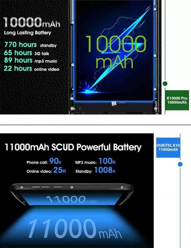 OUKITEL anuncia incrível flash sale para o 10000mAh K10000 Pro e 11000mAh K10 4