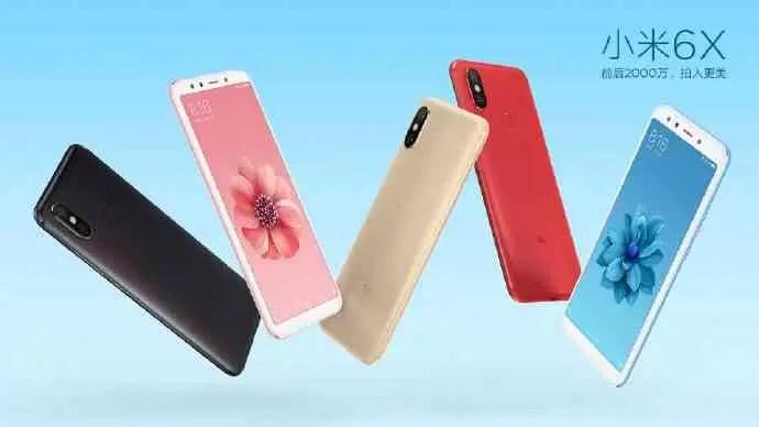 Xiaomi Mi 6X vai chegar em cinco opções de cores 5