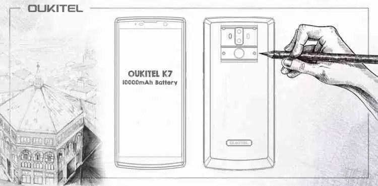 OUKITEL tem um novo smartphone OUKITEL K7 com ecrã 18: 9 e bateria de 10000mAh 3