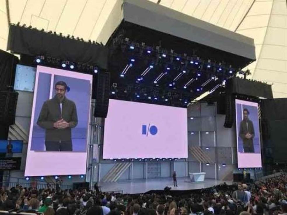 Sundar Pichai, CEO do Google, apresenta o novo Android P.