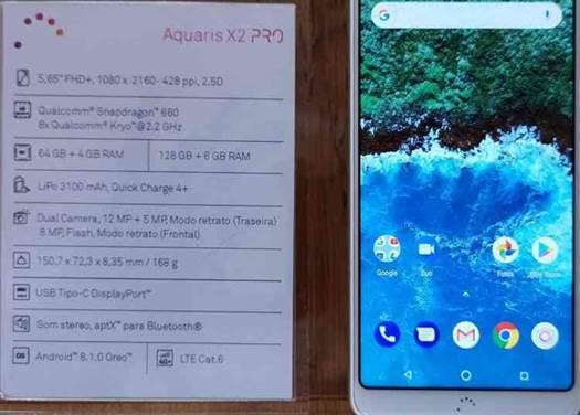 Vídeo Hands On BQ Aquaris X2 e X2 Pro 16