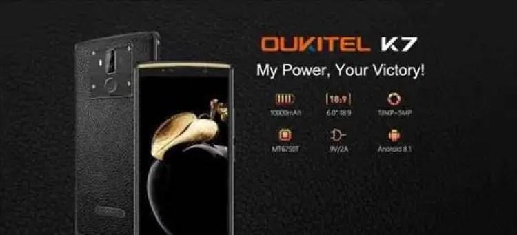 O Oukitel K7 com 10000mAh aparece em vídeo Hands On e tem as suas especificações reveladas 1