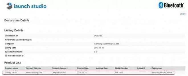 Galaxy Tab S4 recebe nova certificação e o seu lançamento deve estar para breve 1