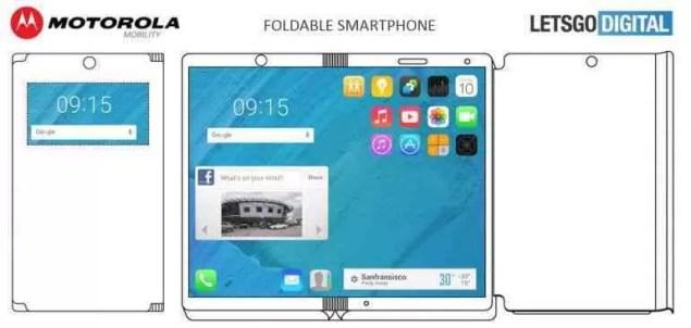 Motorola regista patente de um smartphone dobrável 2
