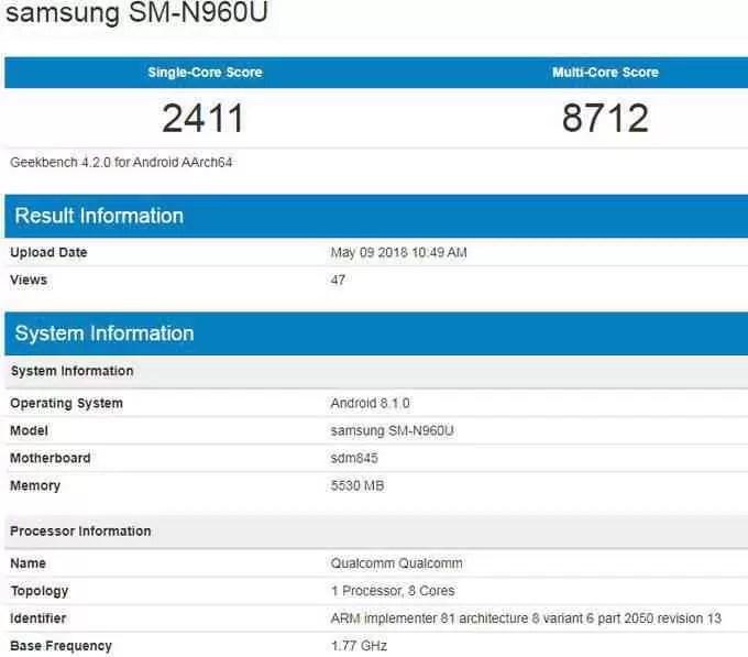 Samsung Galaxy Note 9: Testes revelam que a versão dos EUA terá 6 GB de RAM 2