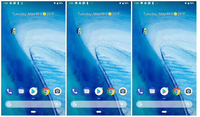Barra de status no Android P mostra apenas quatro ícones de notificação 1