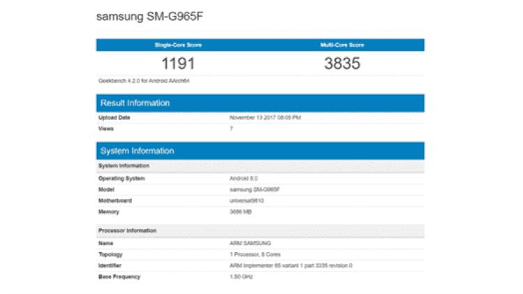 Galaxy Note 9 em teste benchmark com Exynos 9815 e 8GB de RAM? 2