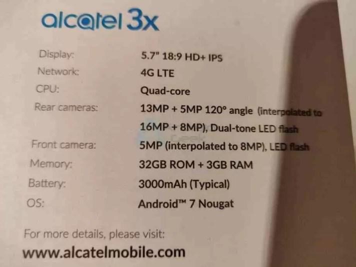 Alcatel 3X as primeiras impressões 1