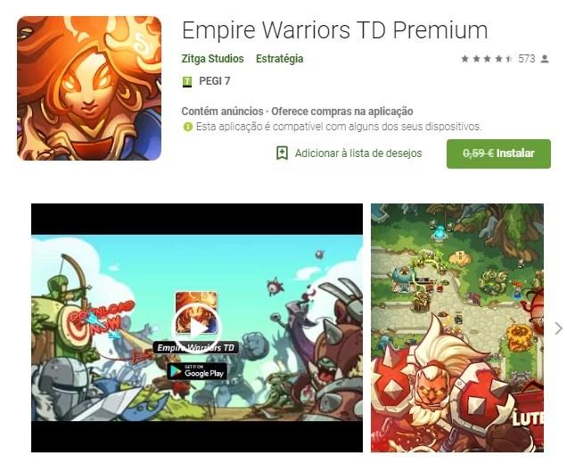 Empire Warriors TD Premium GRÁTIS na Play Store 1