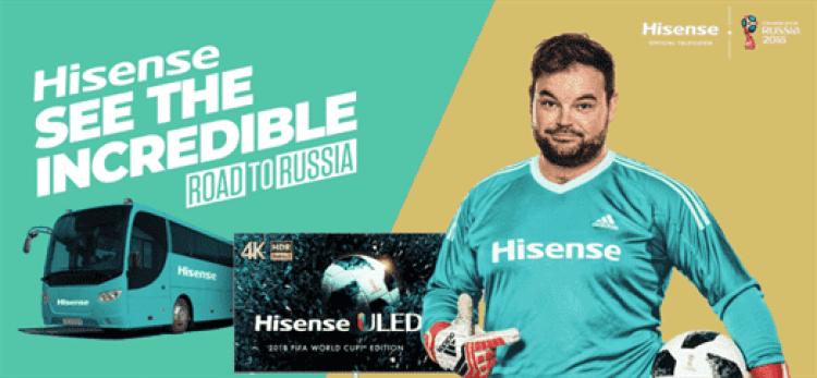 Hisense celebra patrocínio ao Campeonato do Mundo com Tour pela Europa 1