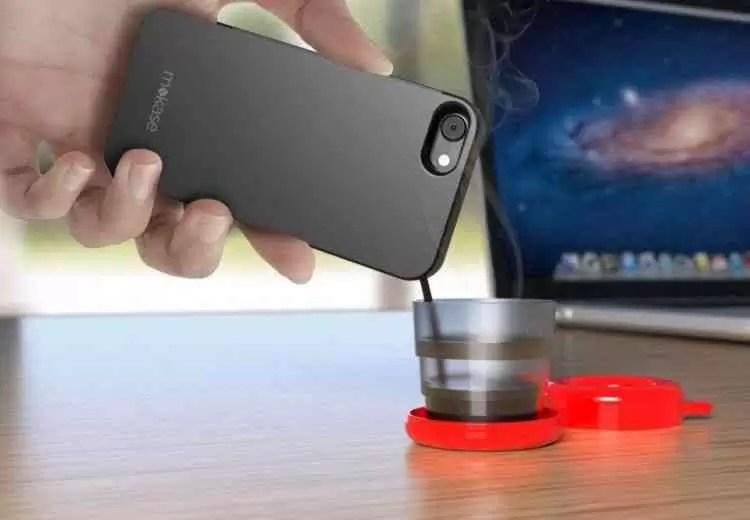 Mokase a capa para o Smartphone que tira cafés! A sério! 1