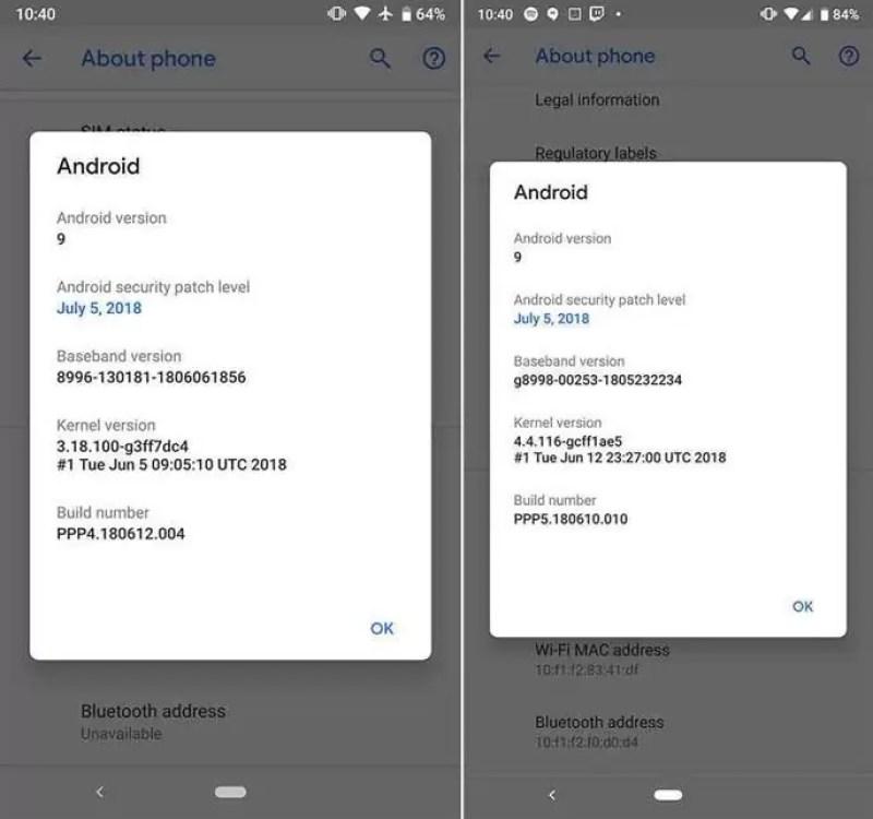 O que há de novo no Android P Developer Preview 5 (Beta 4)? 1
