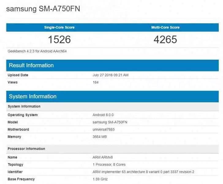Misterioso Samsung Galaxy chega ao Geekbench 1
