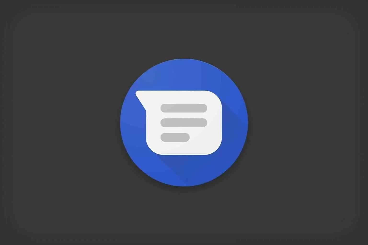 The dark topic arrives on Android messages during the last update