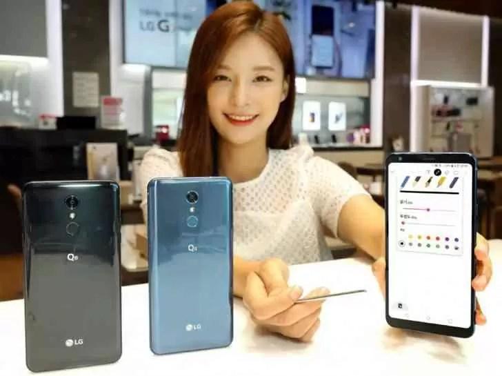 """LG anuncia o Q8 (2018) com ecrã de 6,2 """"e caneta"""