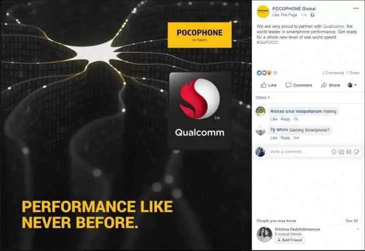 Xiaomi Pocophone F1 será o aparelho mais rápido da sua classe, Snapdragon 845 confirmado 1