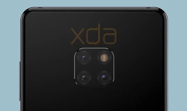 Huawei Mate 20 renderizar câmaras traseiras