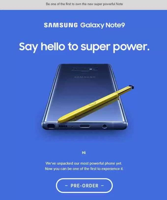 A traseira redesenhada do Galaxy Note 9 é oficialmente confirmada pela Samsung 1