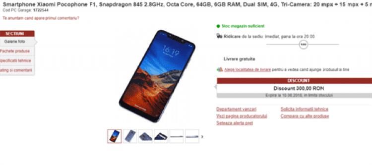 Especificações do POCOPHONE F1 da Xiaomi e preço revelados image