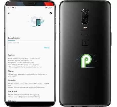 Oneplus 6 H2os Pie Beta 2