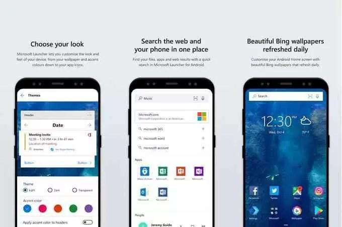 Microsoft Launcher ganha gestos de deslize de ícone na última atualização 1
