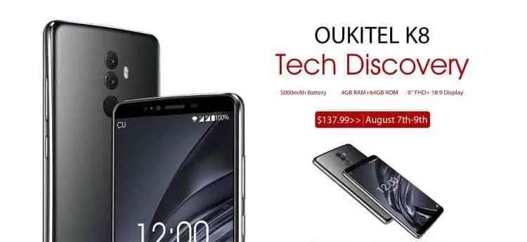 OUKITEL K8 com bateria de 5000 mAh em Flash Sale na AliExpress 1
