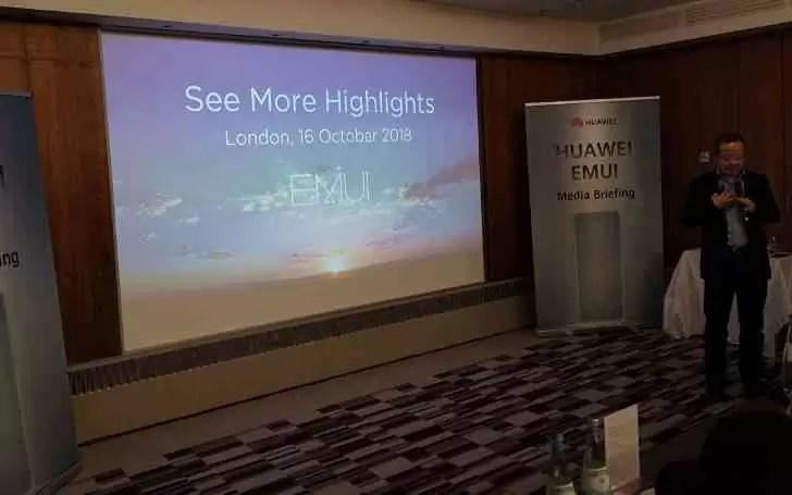 Huawei exibe orgulhosamente o EMUI 9.0 baseado em Android Pie 1