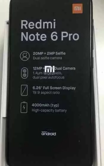 Xiaomi Redmi Note 6 Pro foi revelado caixa confirma algumas especificações