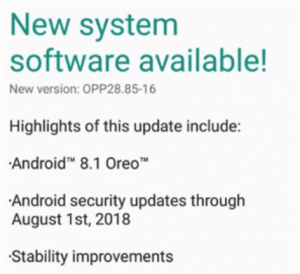Android 8.1 Oreo para Moto G5 lançado na Índia 1