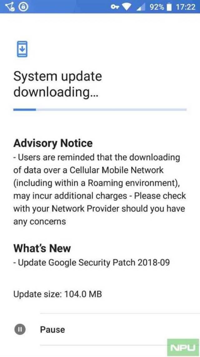 Lançada agora a actualização de segurança de Setembro para o Nokia 5 e 6 1