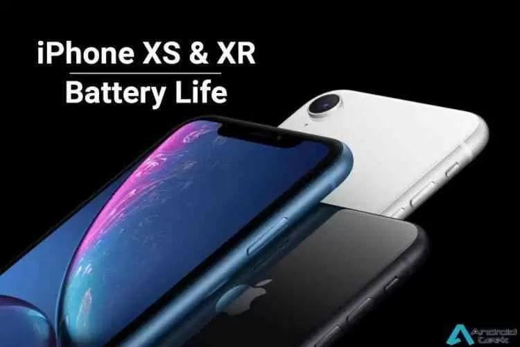 Capacidade da bateria do iPhone XS, XS Max e XR revelado 1