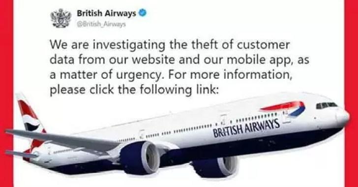 British Airways Data Breach Hack