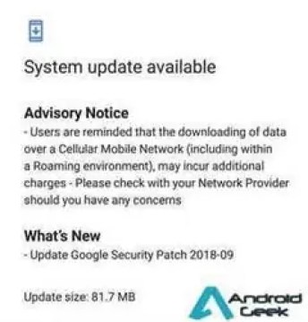 Nokia 6.1 recebe nova actualização com melhorias de segurança 1