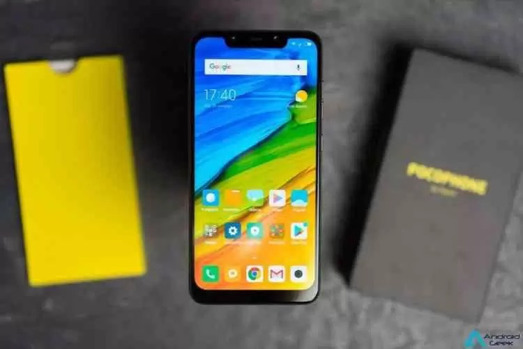 Pocophone F1 visto no GeekBench com o Android 9 Pie 1