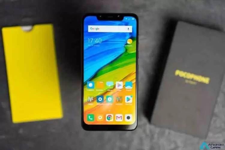 Pocophone F1 visto no GeekBench com o Android 9 Pie 1