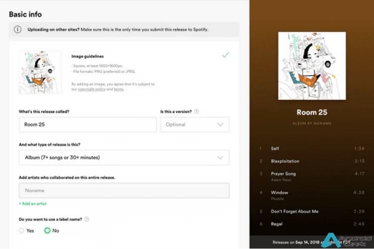 Spotify beta permite que artistas façam upload das Suas próprias músicas 1